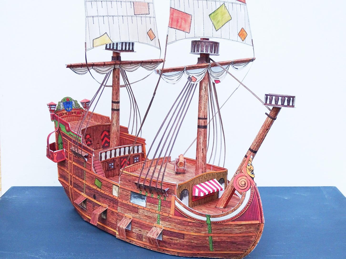 Piratenschiff aus Papier basteln