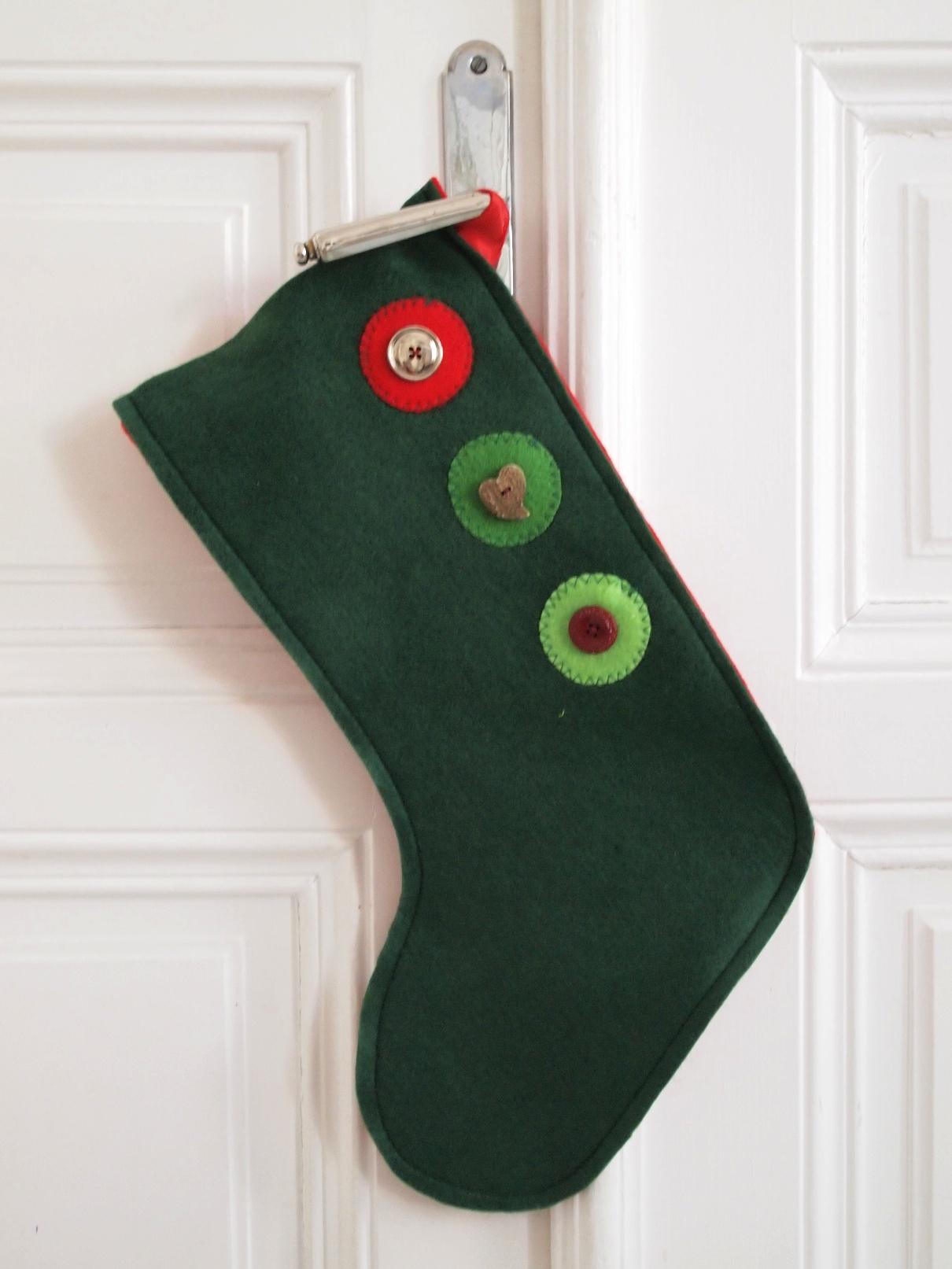 Christmas Stockings nähen Schablone