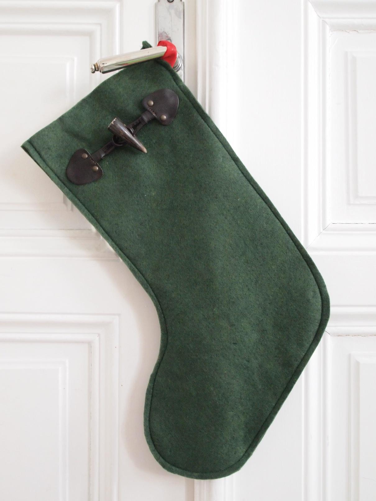Knöpfe upcyceln: Christmas Stockings