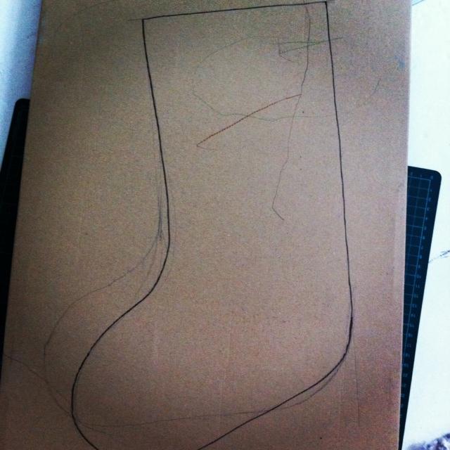 Christmas Stockings Vorlage zeichnen