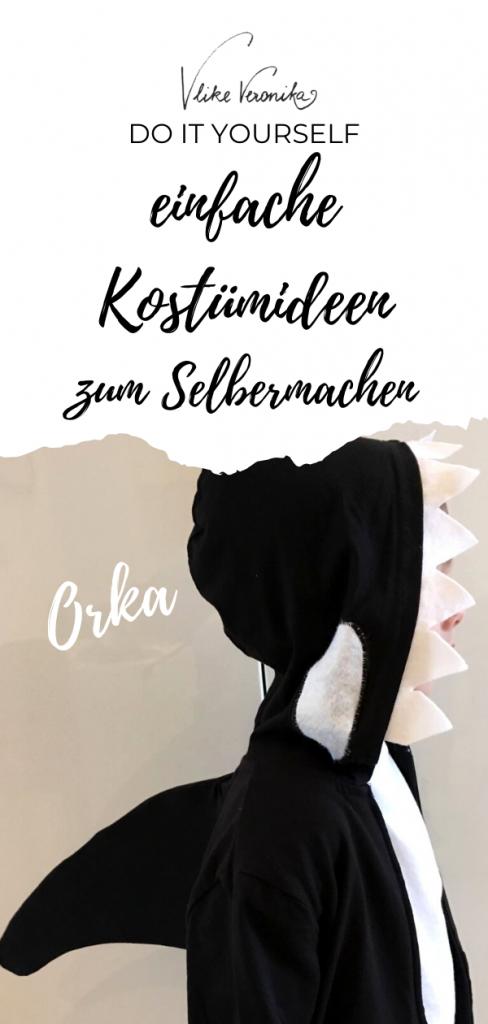 Orka bzw. Killerwalkostüm einfache Kostümidee