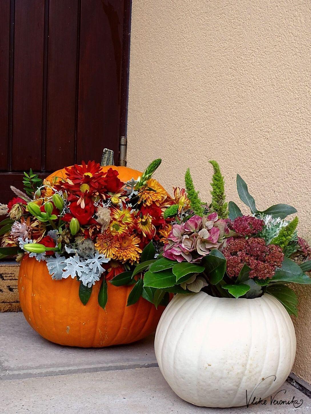 Kürbis mit Blumen dekorieren: So funktioniert das schöne Herbst-DIY-Projekt