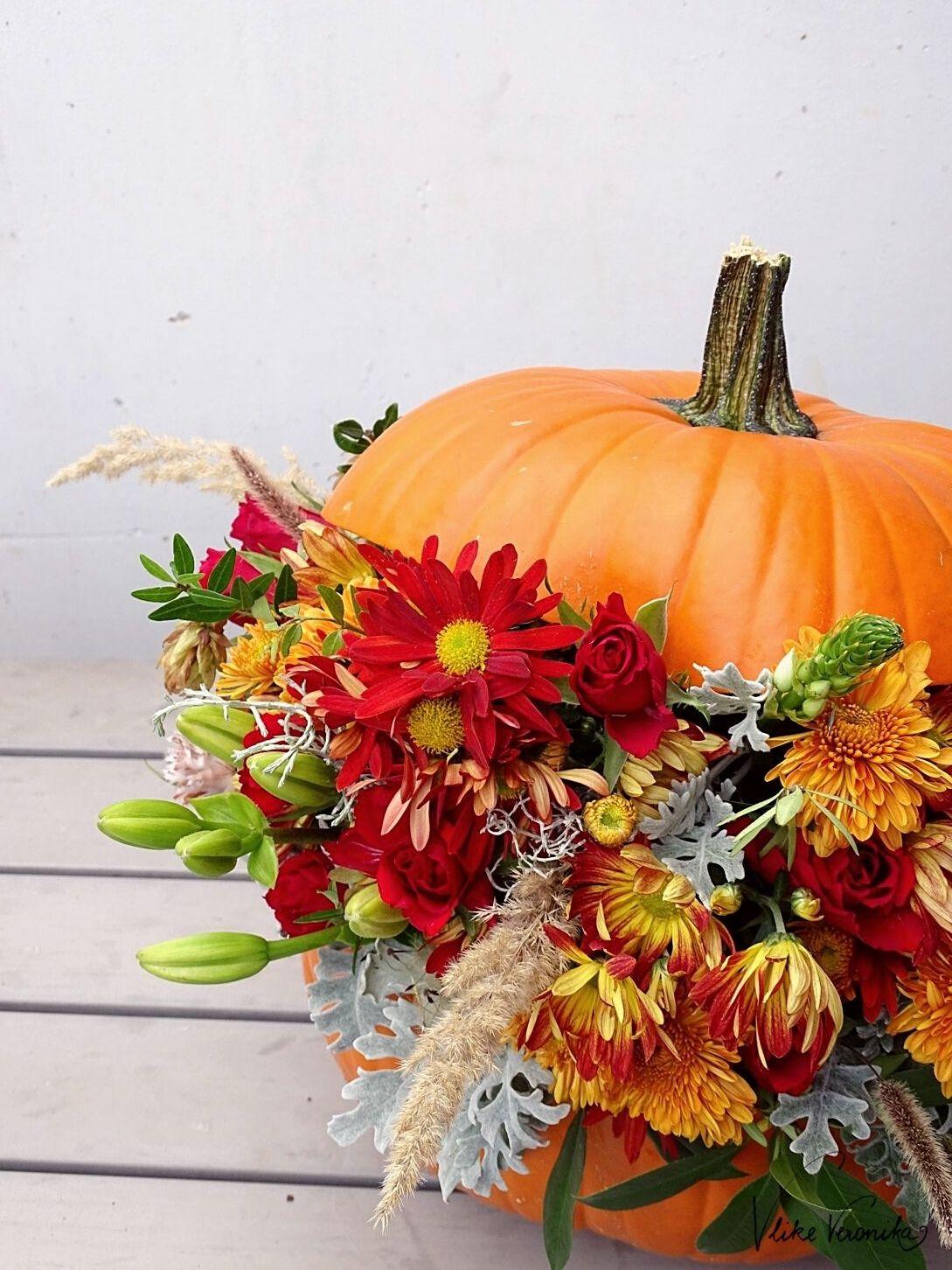 Schöne Gestecke für den Herbst.