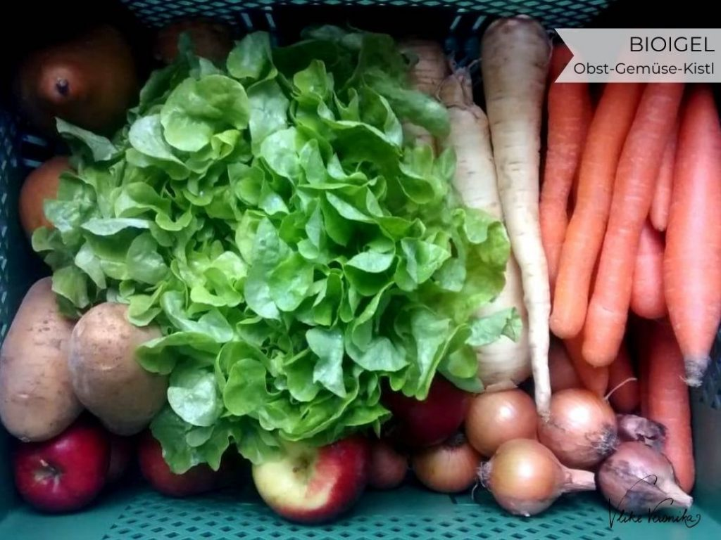 Was ist im Bioigel Obst-und-Gemüsekisterl drinnen? Wir haben reingeschaut.