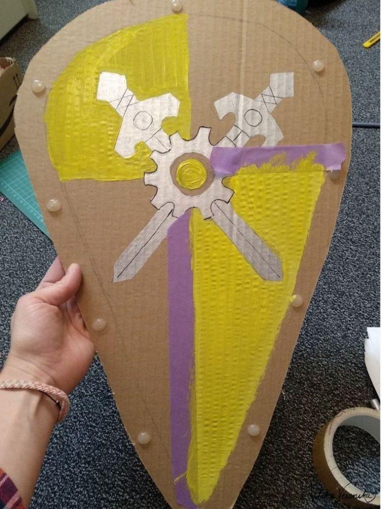 Bastelanleitung für den Schild von Prinz Arwynn von Novelmore.