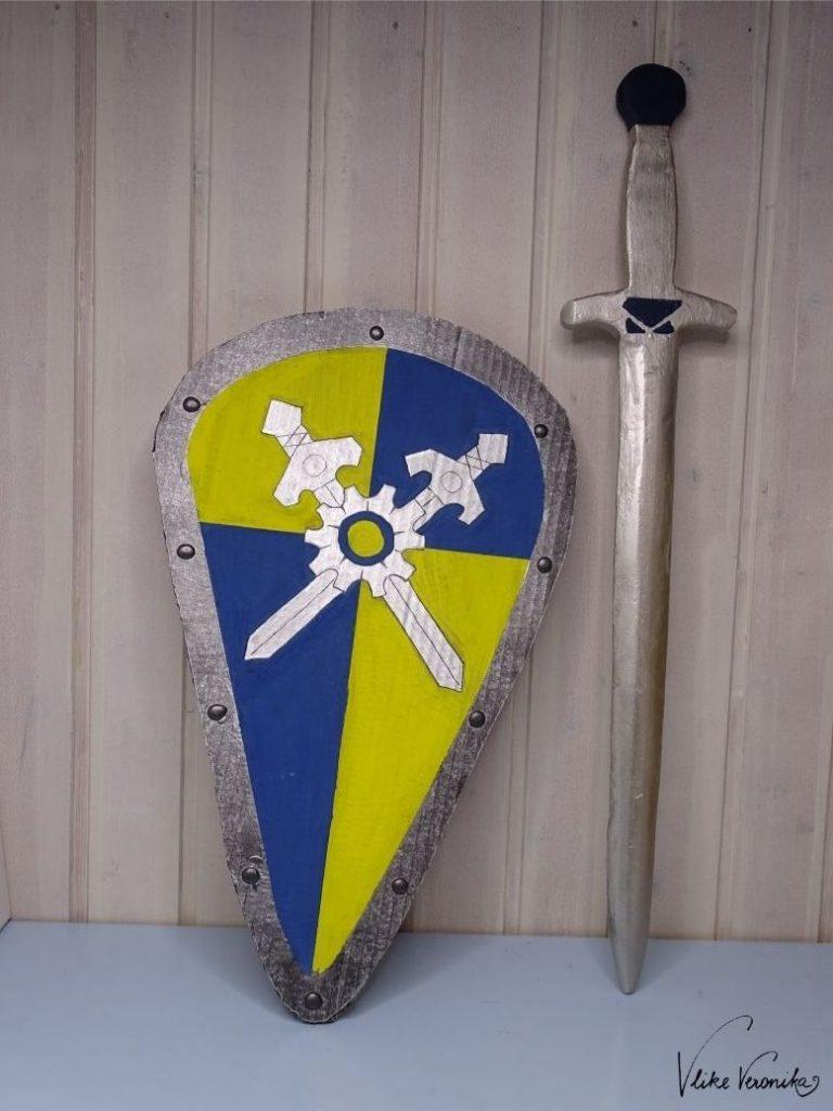 Schild und Schwert von Novelmore selber basteln mit Anleitung.