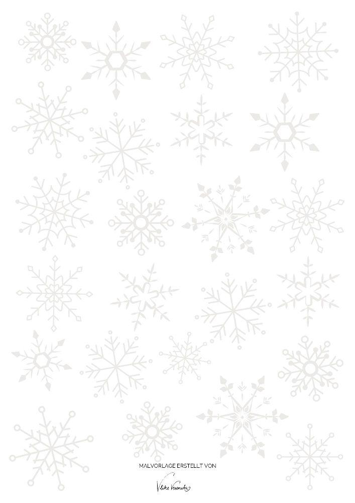 Schneeflocken-Ausmalbild für den Winter für Kinder und Erwachsene