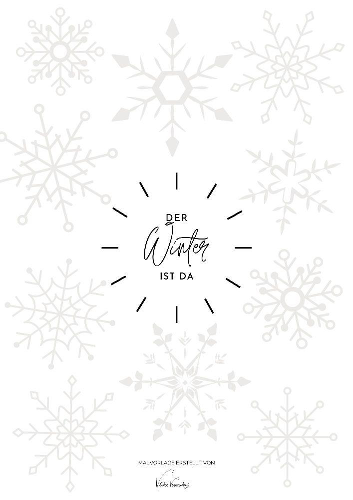 Ausmalbilder für alle Jahreszeiten: Hol Dir die Malvorlage mit Schneeflocken - für Kinder und Erwachsene