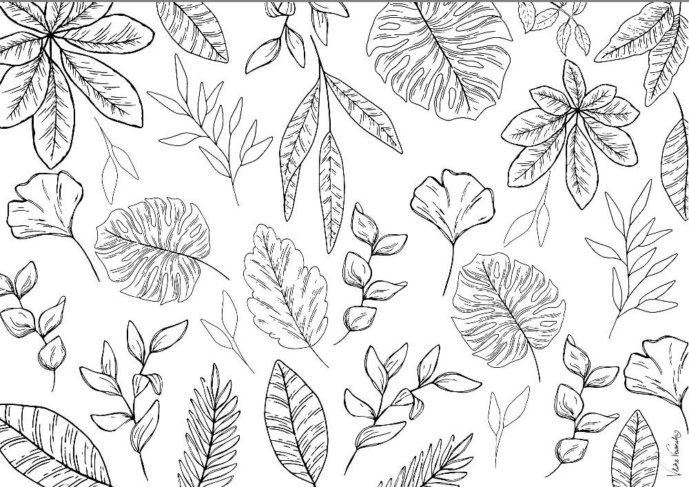 Herbstliche Blätter zum Ausdrucken und Ausmalen für Kinder und Erwachsene