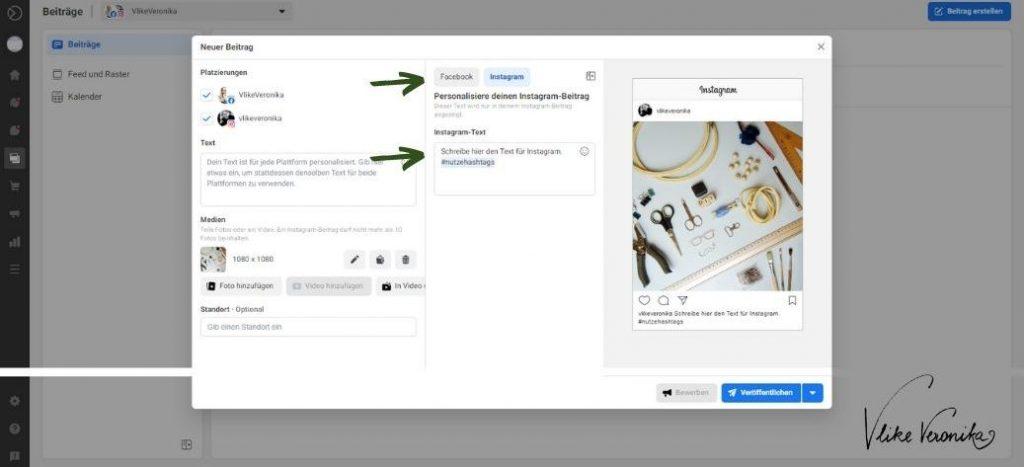 So planst Du einen Instagram-Beitrag mit der Facebook Business Suite.