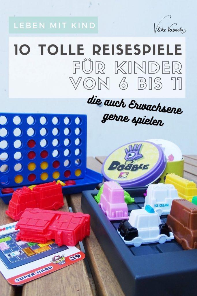 Spieleempfehlungen für Reisespiele für Kinder im Volksschulalter, die auch Erwachsene gerne spielen.