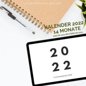 Der schlichte A4-Kalender zum Herunterladen als pdf, zum Ausdrucken und Beschriften für Familie, Büro und in der Schule.
